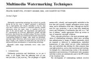 多媒体水印技术Multimedia Watermarking Techniques